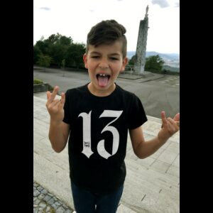 Camiseta Kids 13, negra